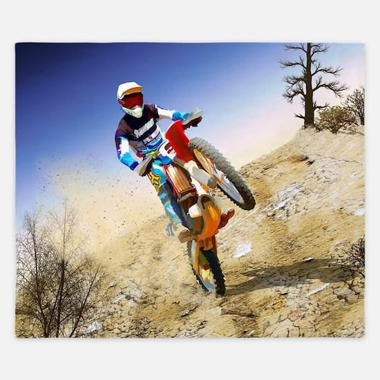 Desert Wheelie Motocross King Duvet