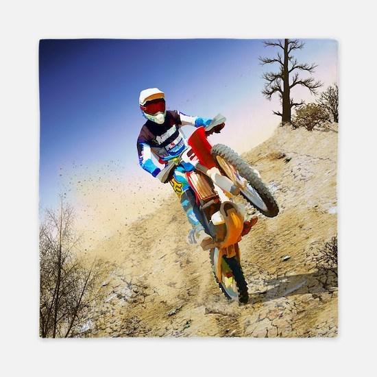 Desert Wheelie Motocross Queen Duvet