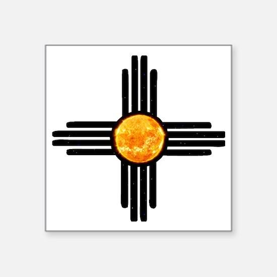 """Zia Sun Sky Square Sticker 3"""" x 3"""""""