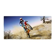 Desert Wheelie Motocross Beach Towel
