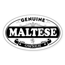 MALTESE Oval Decal
