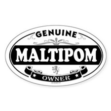 MALTIPOM Oval Decal