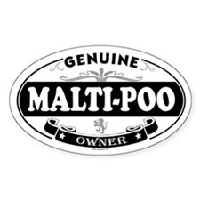 MALTI-POO Oval Decal