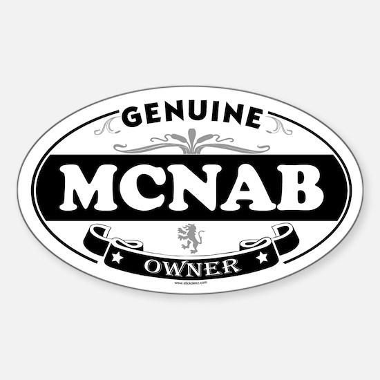 MCNAB Oval Decal