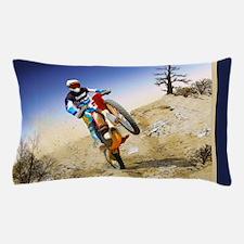 Desert Wheelie Motocross Pillow Case
