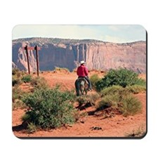 Monument Valley Horse & Rider, Utah, USA Mousepad
