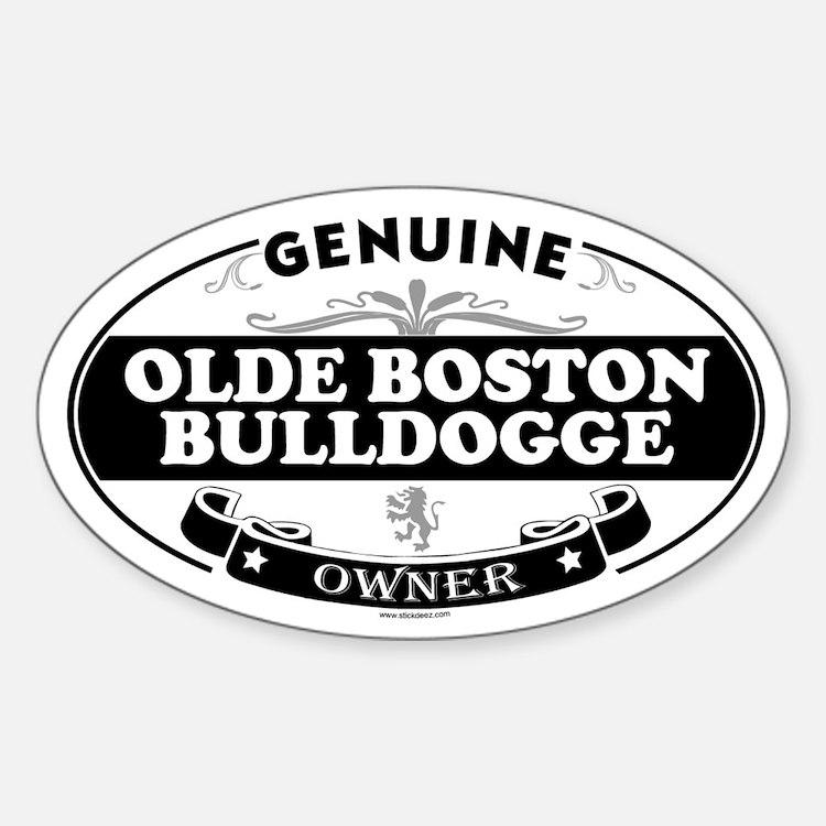 OLDE BOSTON BULLDOGGE Oval Decal