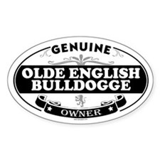 OLDE ENGLISH BULLDOGGE Oval Decal