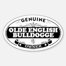 OLDE ENGLISH BULLDOGGE Oval Decal