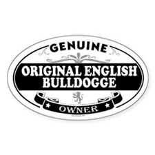 ORIGINAL ENGLISH BULLDOGGE Oval Decal