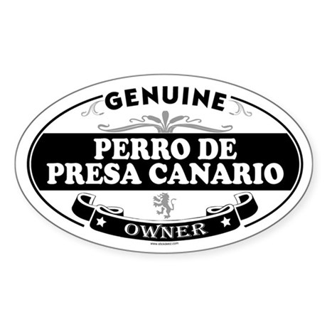 PERRO DE PRESA CANARIO Oval Sticker