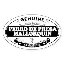 PERRO DE PRESA MALLORQUIN Oval Decal