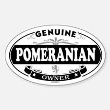 POMERANIAN Oval Decal