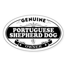 PORTUGUESE SHEPHERD DOG Oval Decal