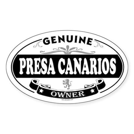 PRESA CANARIOS Oval Sticker