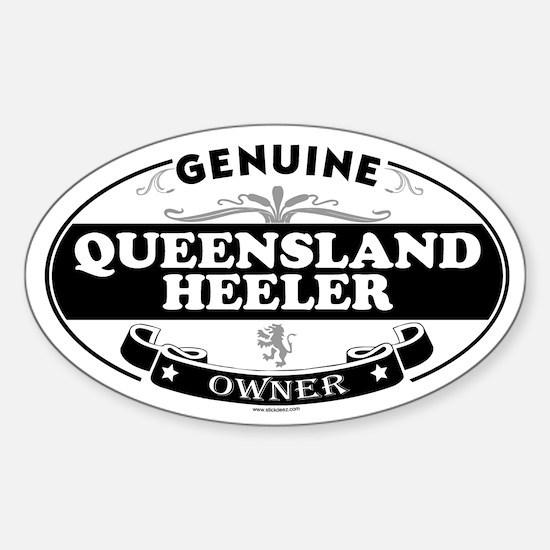 QUEENSLAND HEELER Oval Decal