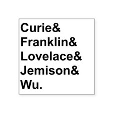 Women in Science, black text Sticker