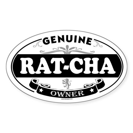 RAT-CHA Oval Sticker
