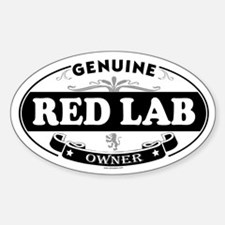 RED LAB Oval Decal