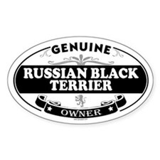 RUSSIAN BLACK TERRIER Oval Decal