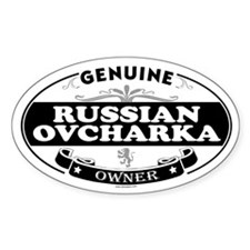 RUSSIAN OVCHARKA Oval Decal