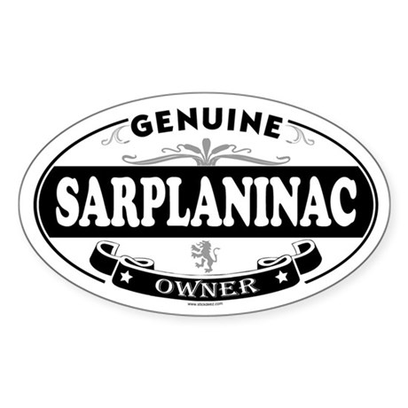 SARPLANINAC Oval Sticker