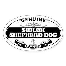 SHILOH SHEPHERD DOG Oval Decal