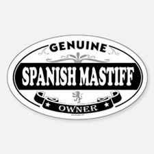 SPANISH MASTIFF Oval Decal