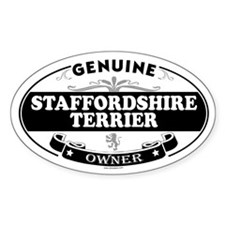 STAFFORDSHIRE TERRIER Oval Decal