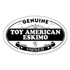 TOY AMERICAN ESKIMO Oval Decal