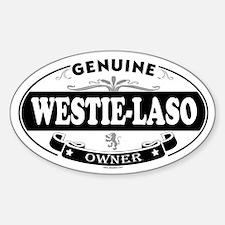 WESTIE-LASO Oval Decal