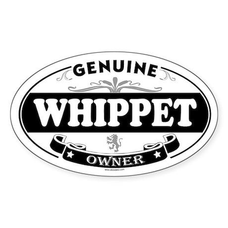 WHIPPET Oval Sticker