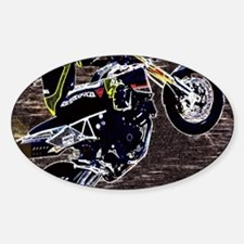 grunge cool motorcycle race Decal