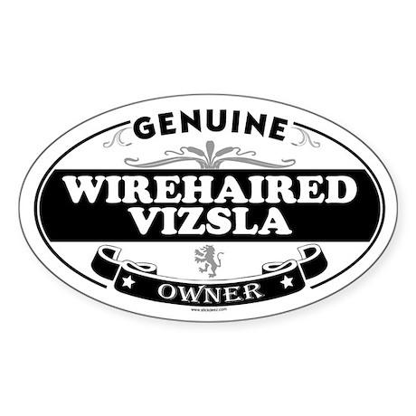 WIREHAIRED VIZSLA Oval Sticker