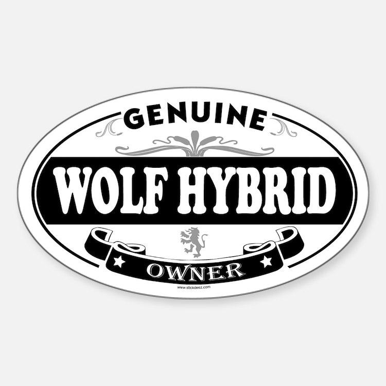 WOLF HYBRID Oval Decal