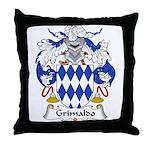 Grimaldo Family Crest Throw Pillow