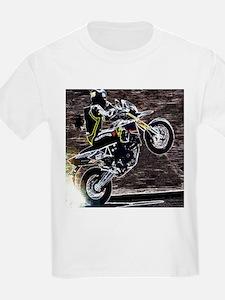 grunge cool motorcycle racer T-Shirt