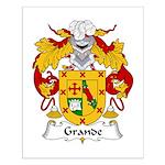 Grande Family Crest Small Poster