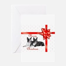 Funny Boston terrier christmas Greeting Card