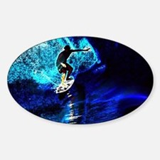 beach blue waves surfer Decal