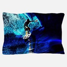 beach blue waves surfer Pillow Case