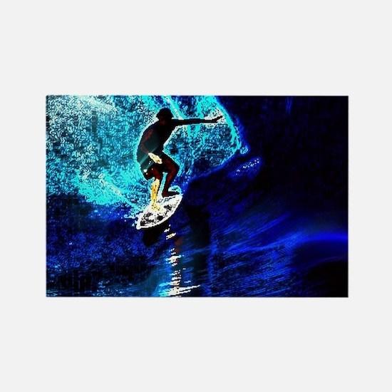 beach blue waves surfer Magnets