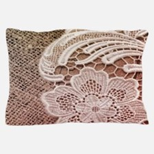 western country burlap lace Pillow Case
