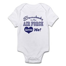 Somebody in the Air Force Loves Me Infant Bodysuit