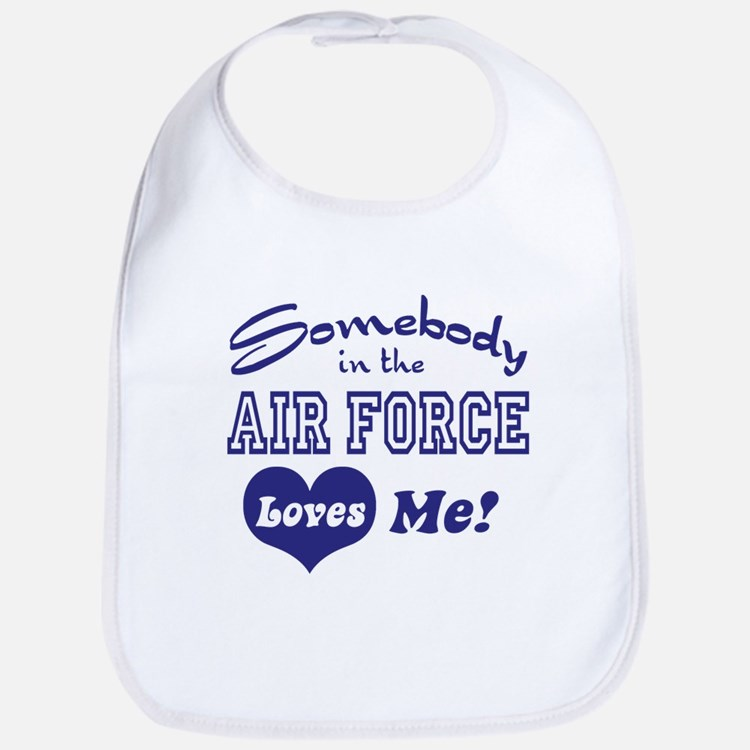 Somebody in the Air Force Loves Me Bib