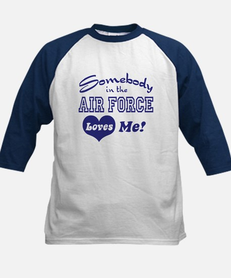 Somebody in the Air Force Loves Me Kids Baseball J