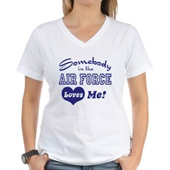 Somebody in the Air Force Loves Me Shirt