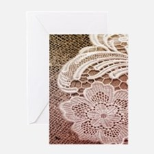 western country burlap lace Greeting Cards