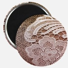 western country burlap lace Magnets