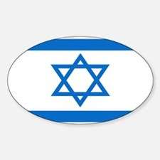 Israeli Flag 4 Oval Decal